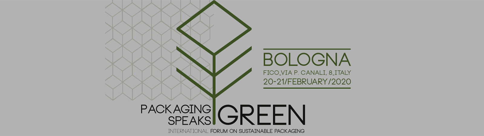 SACMI to be main sponsor of Packaging Speaks Green, Bologna, 20th - 21st February 2020