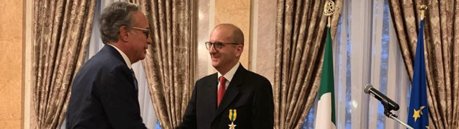 Michele Pulpito (SACMI) receives the Stella al Merito del Lavoro from the Presidency of the Italian Republic